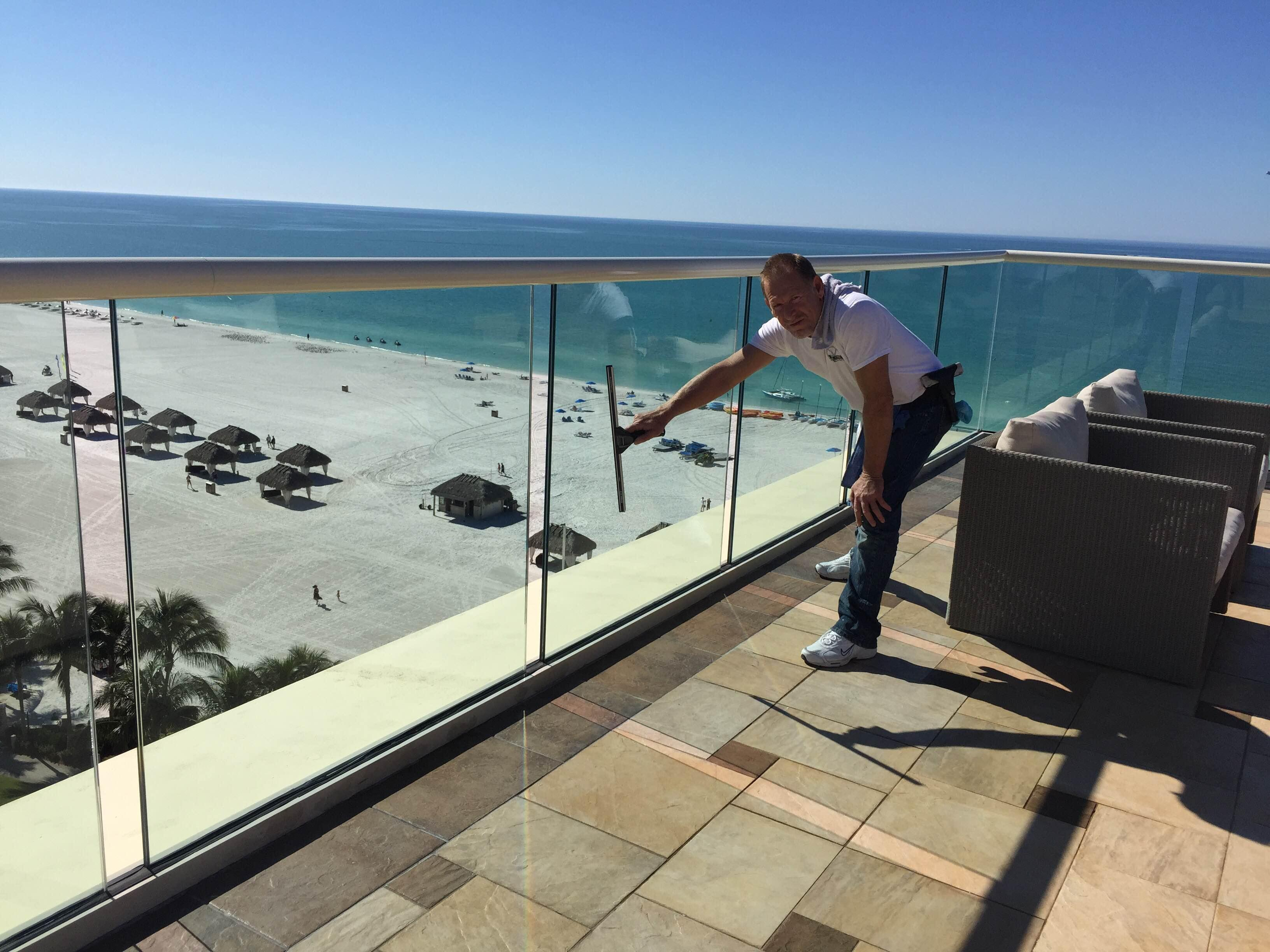 """Clean glass is key! It's ALL about the view!"""